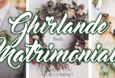 Ghirlande per il matrimonio.
