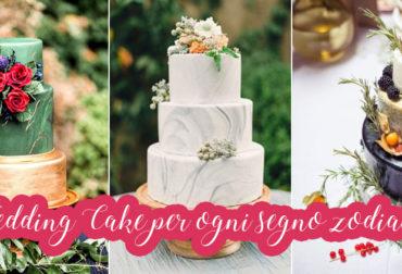 Wedding Cake per ogni segno zodiacale