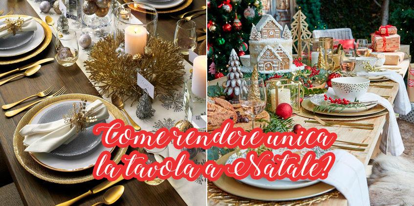 Come rendere unica la tavola a Natale?