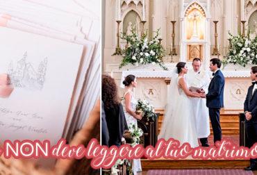 Chi NON deve leggere al tuo matrimonio