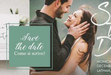Save The Date: Come si scrive?